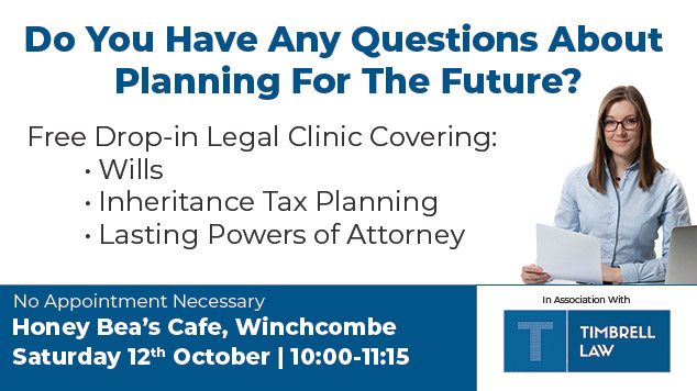 Tewkesbury Wills & LPAs Legal Drop-in Clinic Event Image